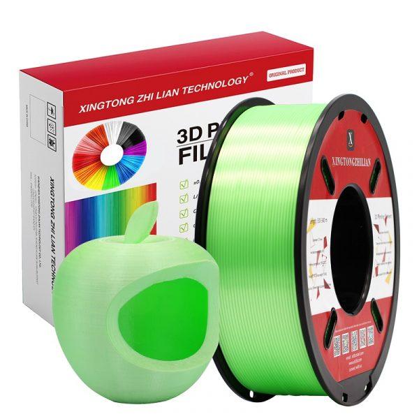 1000g green silk pla with prints xtzl3d